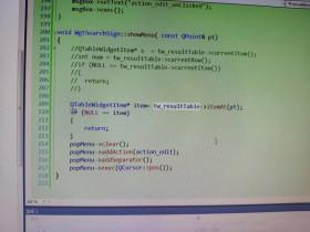 Qt QTableWidget itemAt()函数不得不知的点 (右键菜单)
